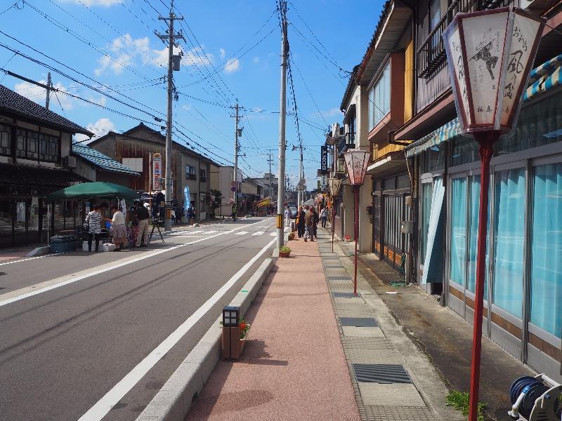 越中八尾駅 駅前通り おわら風の盆(1)