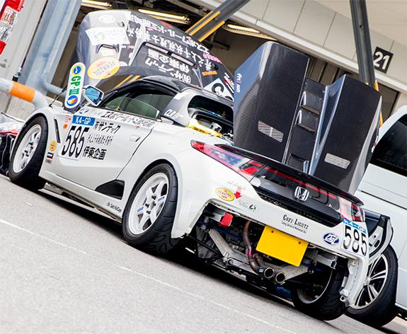 チーム伊東企画&サンテック&井之上税理士事務所 ジージョ コージーライツ S660 K4GP Fuji500km耐久レース 優勝車両