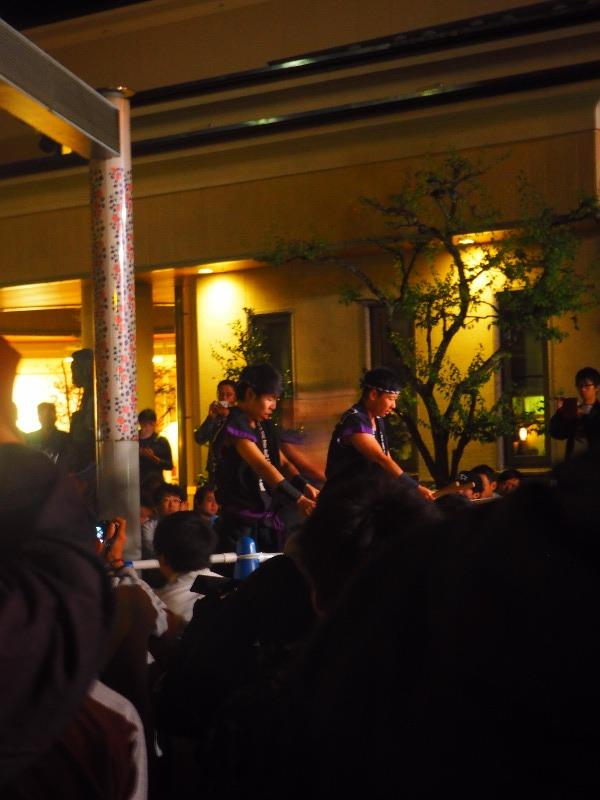 第7回 湯涌ぼんぼり祭り 湯涌稲荷神社 扇階段ステージ 金沢百万石太鼓の皆さん
