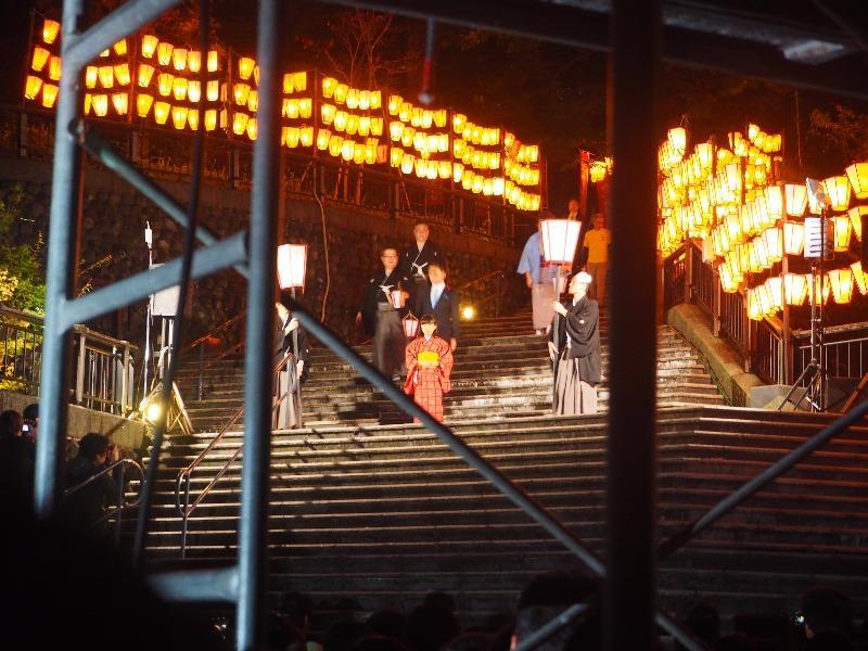 第7回 湯涌ぼんぼり祭り 湯涌稲荷神社 扇階段ステージ 神迎え式