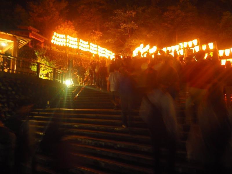 第7回 湯涌ぼんぼり祭り 湯涌稲荷神社 扇階段