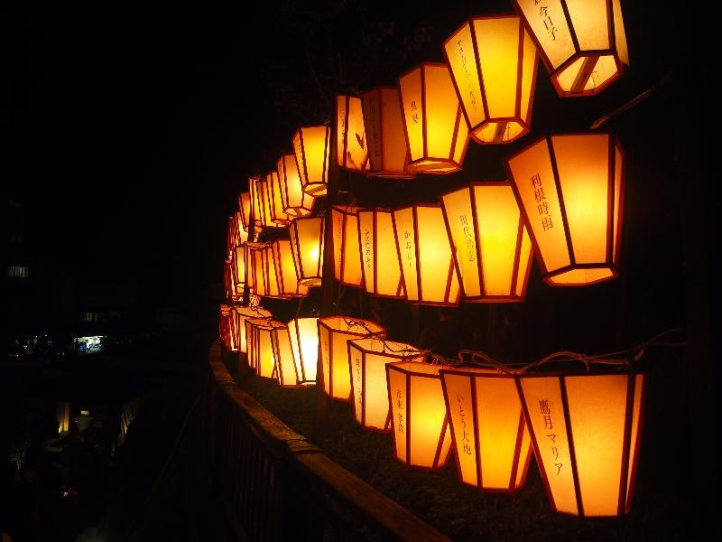 第7回 湯涌ぼんぼり祭り 湯涌稲荷神社 扇階段 ぼんぼり