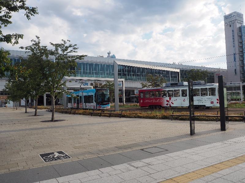 富山駅 南口駅前広場 LRT軌道(1)