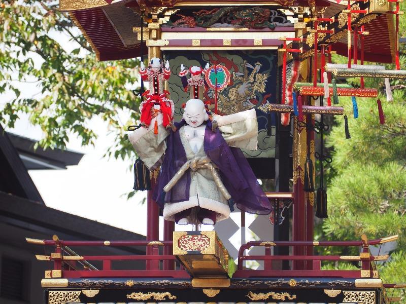櫻山八幡宮 からくり奉納 布袋様、唐子(4)軍配