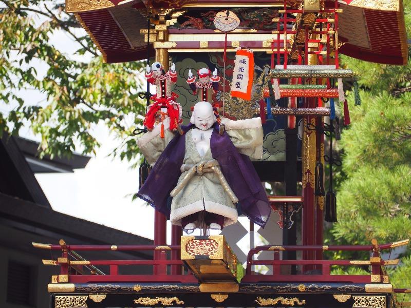 櫻山八幡宮 からくり奉納 布袋様、唐子(5)幟