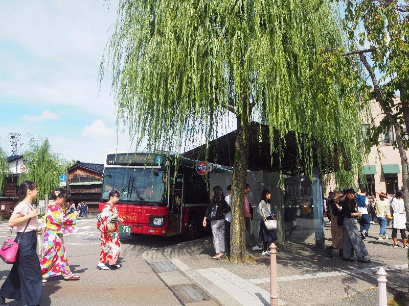 ひがし茶屋街 「橋場町」バス停