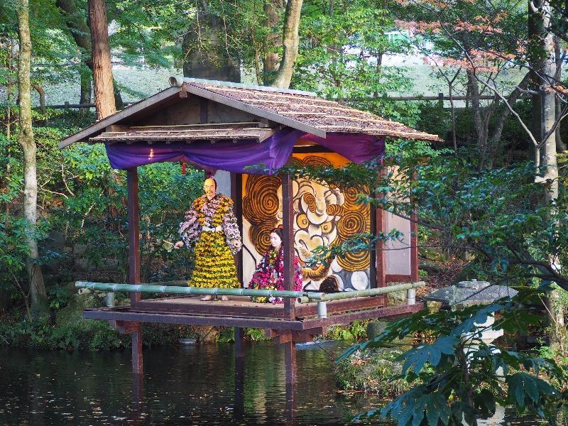 岐阜公園 菊人形 茶を愛した信長の思い