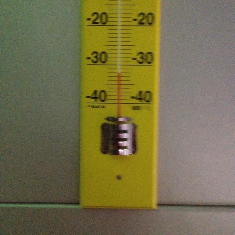名古屋市科学館 極寒ラボ 極地体験室 アルコール温度計