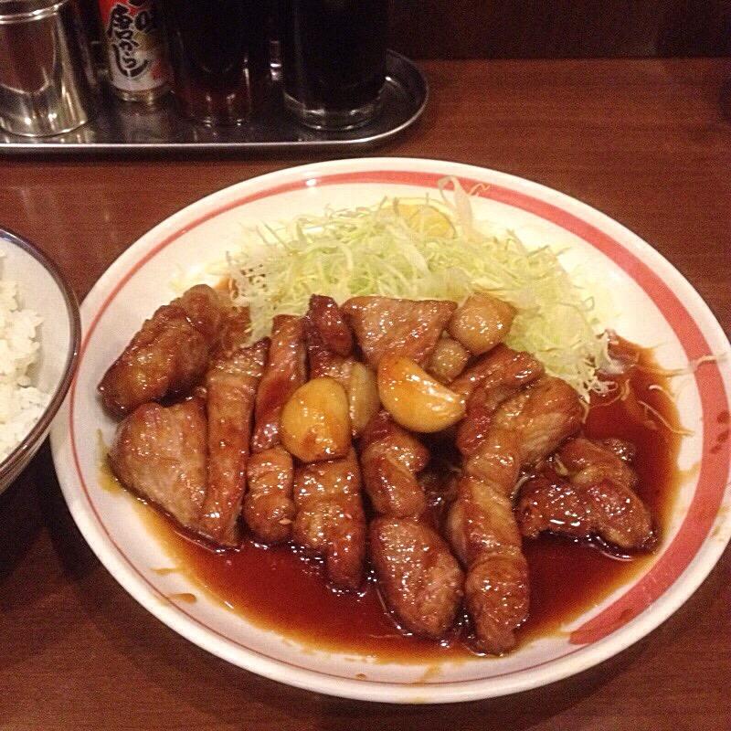 四日市一番街商店街 中華料理 一楽 トンテキ定食