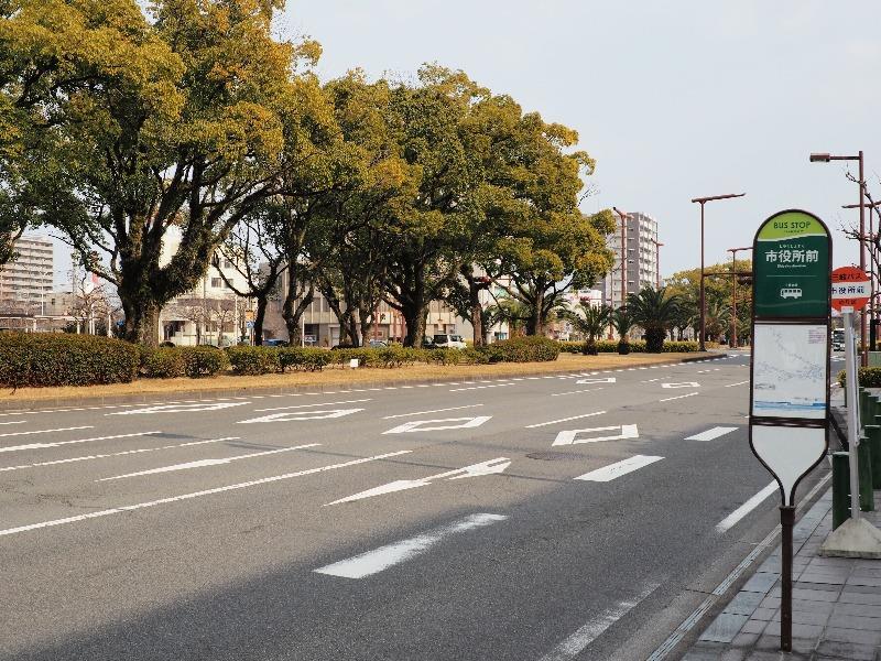 四日市 中央通り「市役所前」バス停