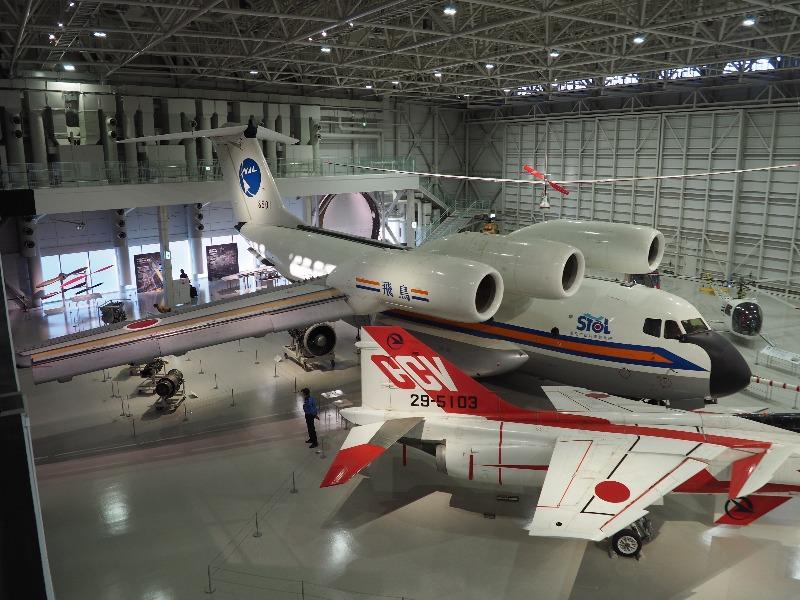 かかみがはら航空宇宙科学博物館 航技研 低騒音STOL実験機「飛鳥」(全体像)