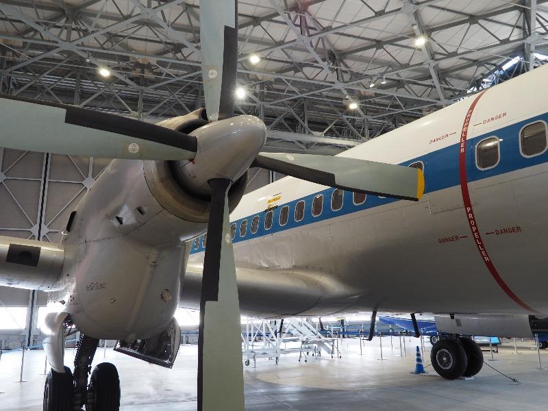 あいち航空ミュージアム YS-11 プロペラ(ターボプロップ)