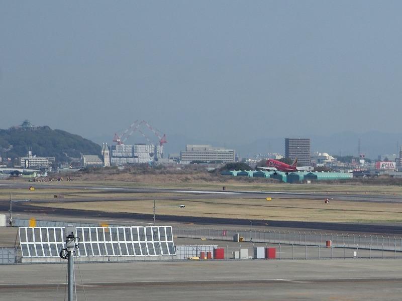 県営名古屋空港 展望デッキ FDA 411 JAL 4431便 名古屋発出雲行 離陸