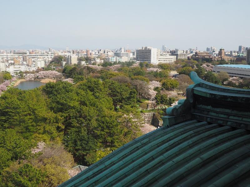 名古屋城 天守閣 展望室 ナゴヤドーム・徳川園方面