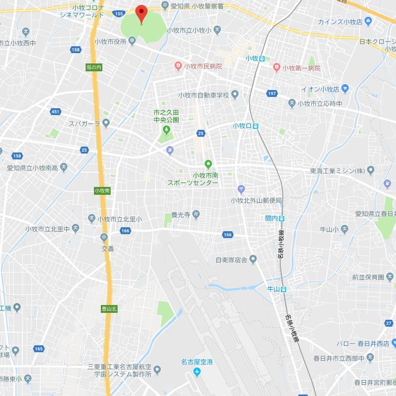 googleMap 県営名古屋空港~小牧山