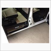 オートモービルパーツ ステンレス製ドアスカッフプレート4ピース白ホワイトLED発光タイプの画像