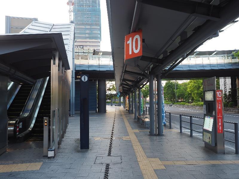 JR岐阜駅 岐阜バスターミナル 10番のりば