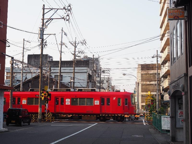 名鉄 各務原線 清住町2丁目 踏切 3100系(3112+3212)