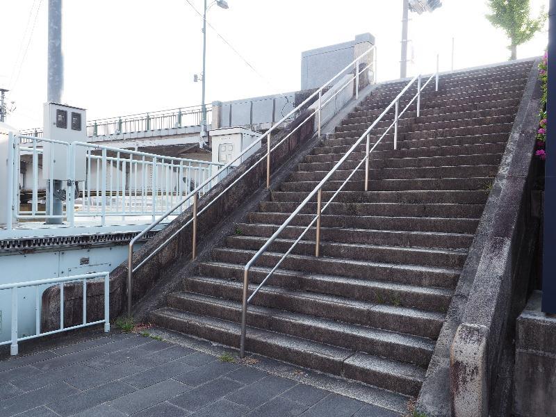 長良橋 鵜飼観覧線乗り場 階段(1)
