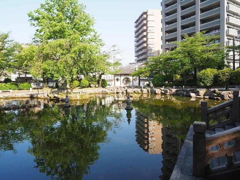 日中友好庭園 西湖を模して作られた池(2)