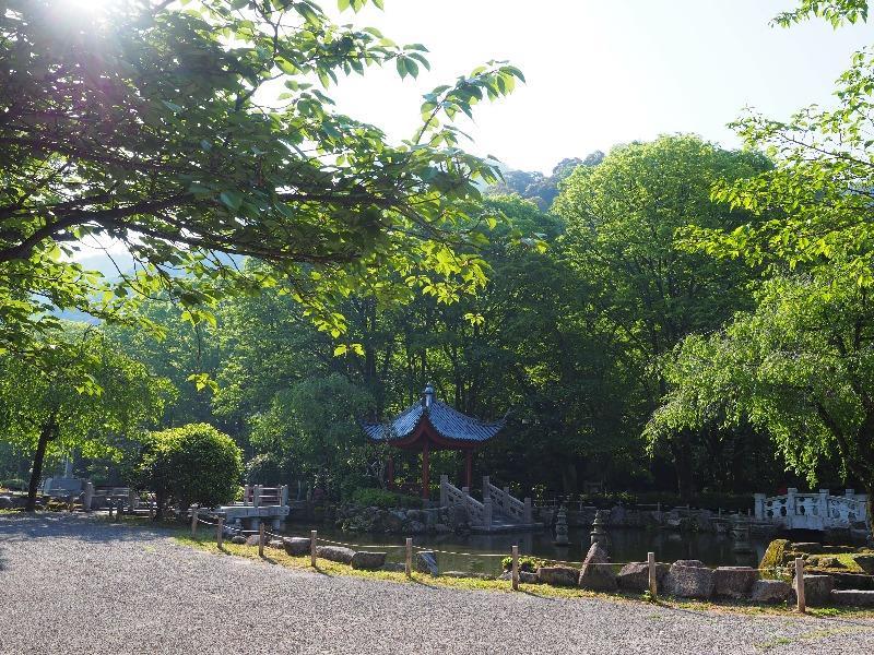 日中友好庭園 西湖を模して作られた池(1)
