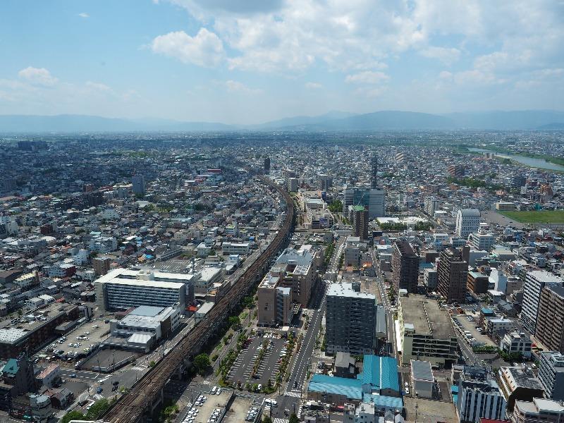 シティ・タワー43 スカイラウンジ展望室 西(JR東海 東海道本線 穂積方面)