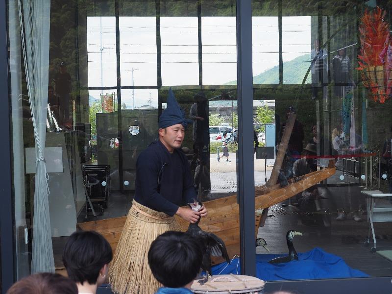 長良川うかいミュージアム 杉山秀二鵜匠による鵜飼の説明(1)