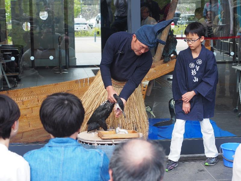 長良川うかいミュージアム 杉山秀二鵜匠による鵜飼の説明(3)