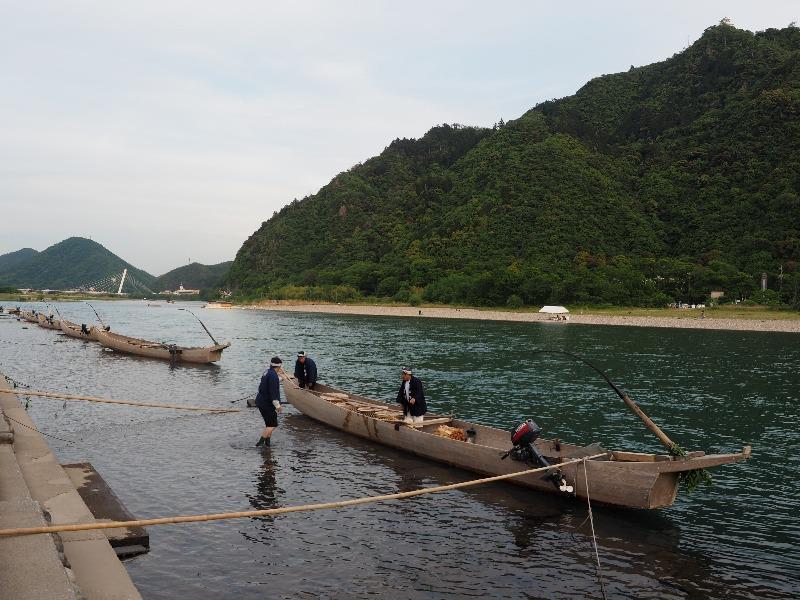 長良川プロムナード 鵜舟(1)