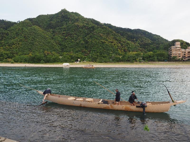 長良川プロムナード 鵜舟(2)