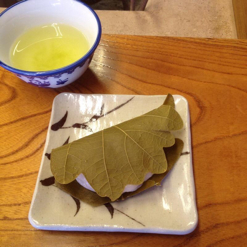岩村城下町 松浦軒本舗 かしわ餅(みそあん)