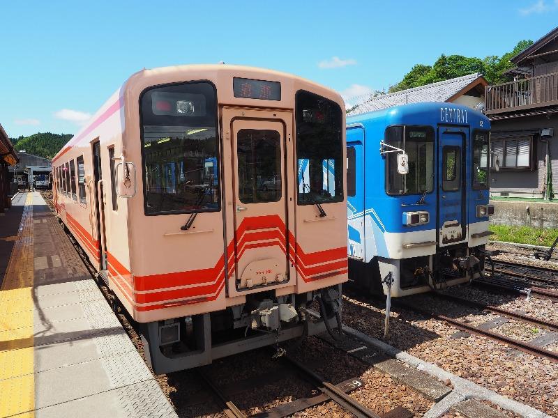 明知鉄道 明智駅 アケチ101、アケチ12