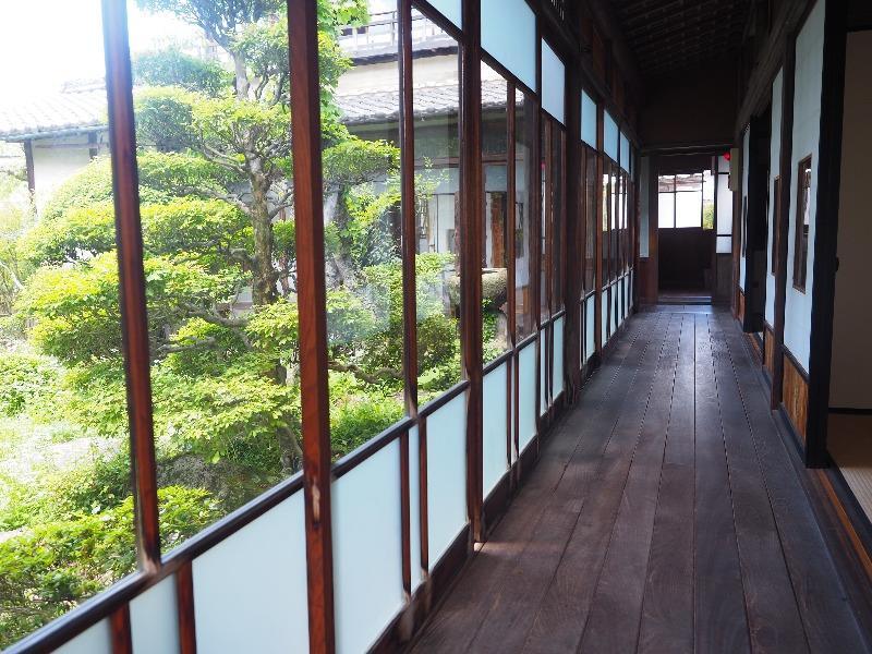 岩村城下町 勝川家 離れから庭園