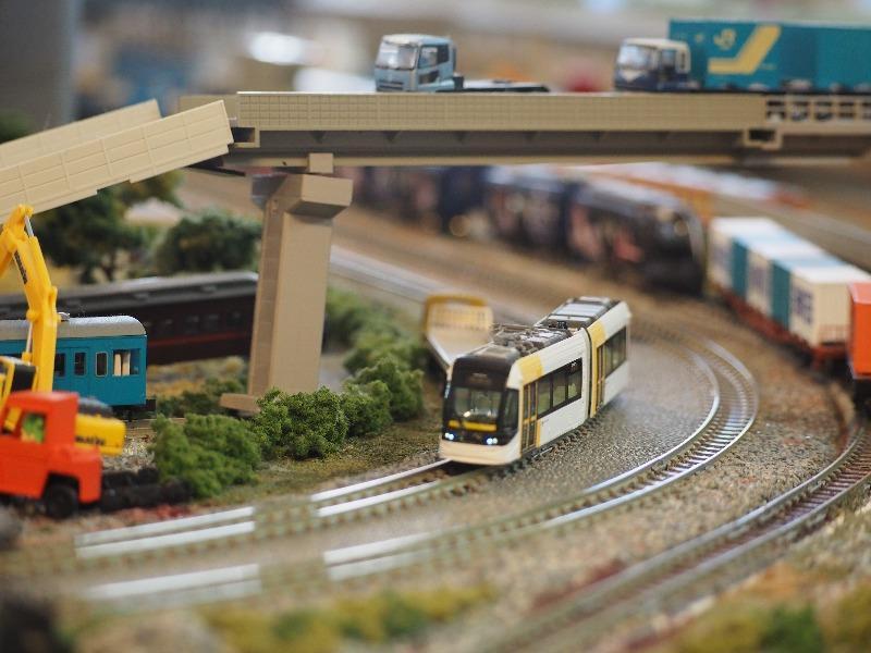 鉄道カフェはるか 鉄道ジオラマ KATO Nゲージ 富山ライトレール TLR0603(1)