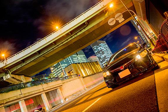 ホンダ シビック タイプR FD2 Honda Civic TypeR 中之島通 阪神高速環状線 OsakaKanjo