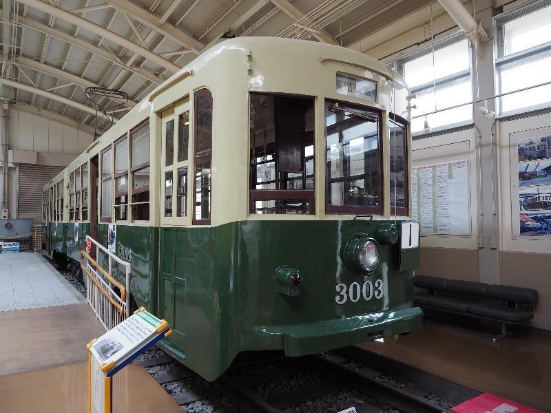 レトロでんしゃ館 名古屋市交通局 市電3000型(3003号車)