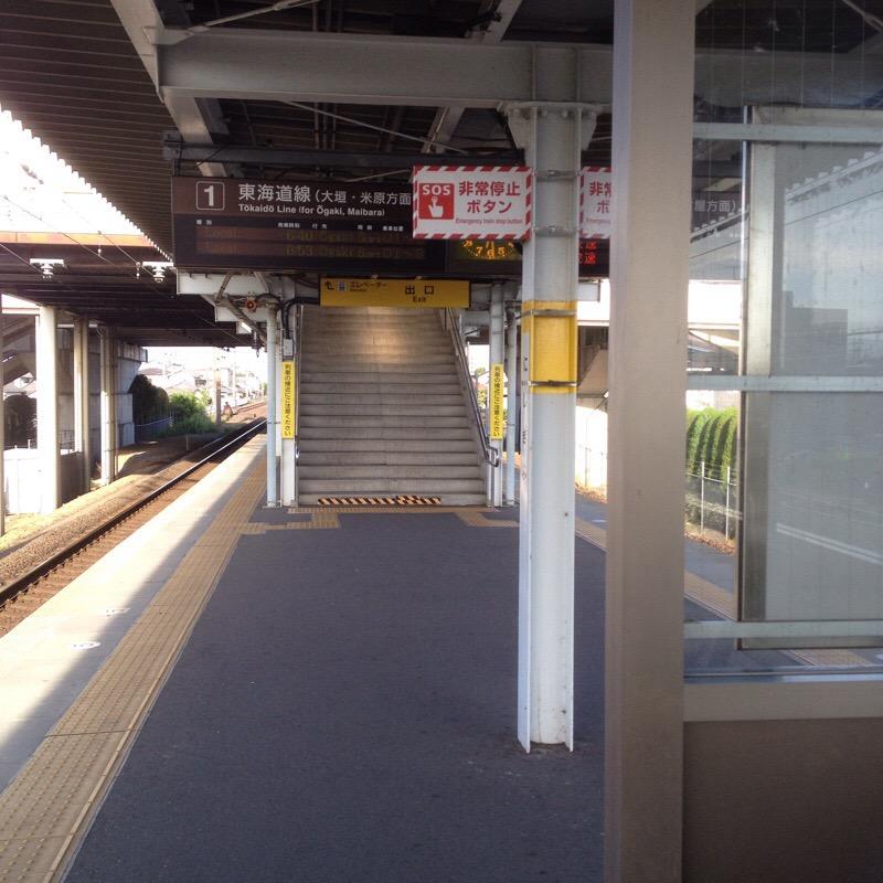 JR西岐阜駅(7)ホーム 1番線のりば