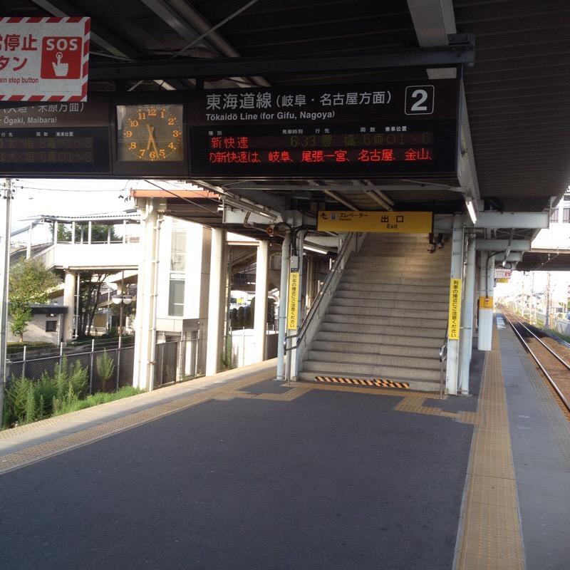 JR西岐阜駅(8)ホーム 2番線のりば