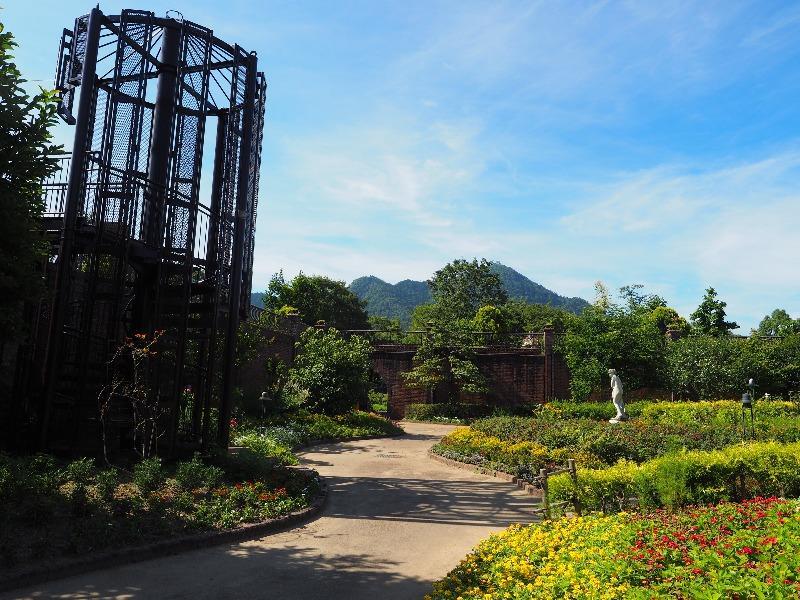 長良公園 沈床花園(3)金華山・岐阜城