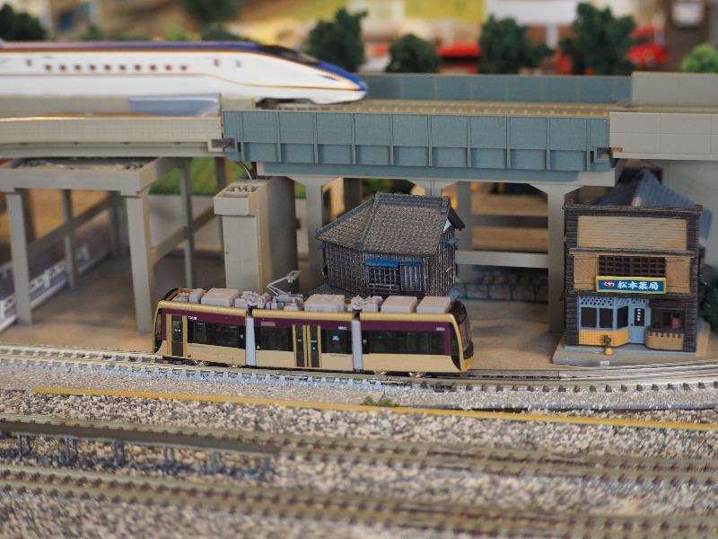 鉄道カフェはるか 鉄道コレクション 阪堺電気軌道1001形「紫おん」+TM-LRT02(2)