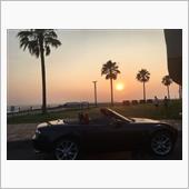 焼野海岸の夕陽とロド