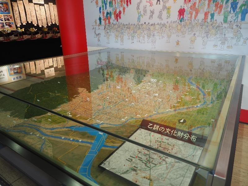 向日市文化資料館 乙訓地域の文化財分布模型