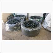 ホイール塗装&タイヤも新品にの画像