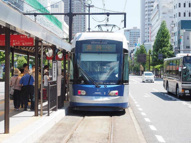 岡山電気軌道 岡山駅前 MOMO2