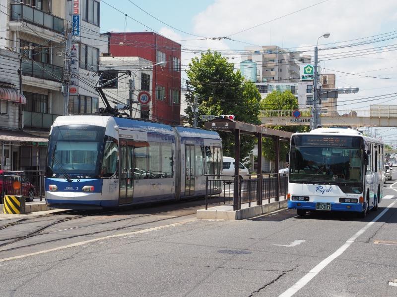 岡山電気軌道 東山・おかでんミュージアム駅 MOMO2(3)+両備バス