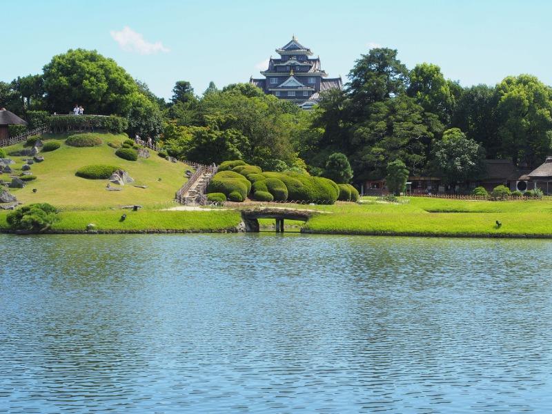 岡山後楽園 沢の池【+岡山城】