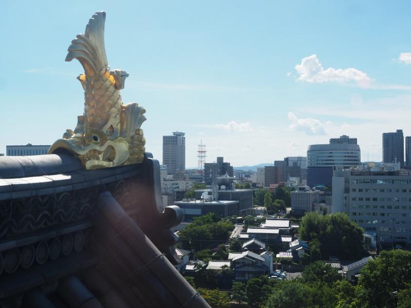 岡山城本丸 天守閣 6階 西(岡山駅方面)
