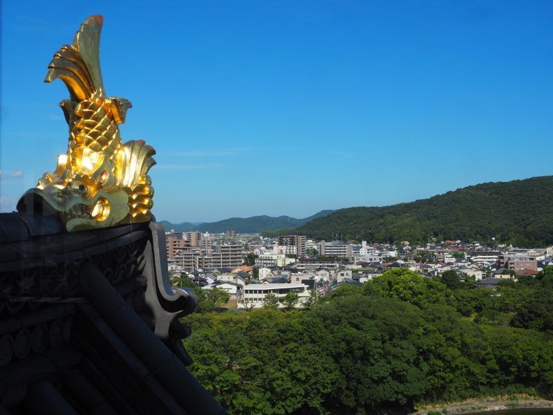 岡山城本丸 天守閣 6階 東(操山方面)