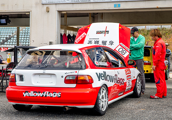Yellowflags Racing EG6 Honda CIVIC イエローフラッグス レーシング ホンダ シビック セントラルサーキット come 1 day race