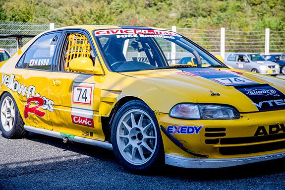 Yellowflags Racing EG9 Honda CIVIC Ferio イエローフラッグス レーシング ホンダ シビック フェリオ セントラルサーキット come 1 day race